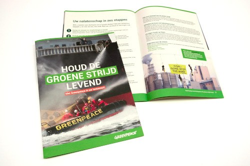 Greenpeace subscribe page image